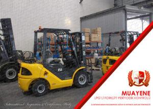 LPG'li Forklift Periyodik Kontrol Muayenesi