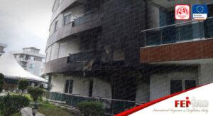 Antalya'da bir Rezidansta Yangın Çıktı