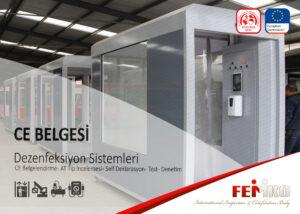 Dezenfeksiyon Makinesi CE Belgesi