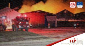 Aksaray'da Yem Fabrikasında Yangın