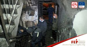 Esenler'de 7 Katlı Binada Yangın Paniği