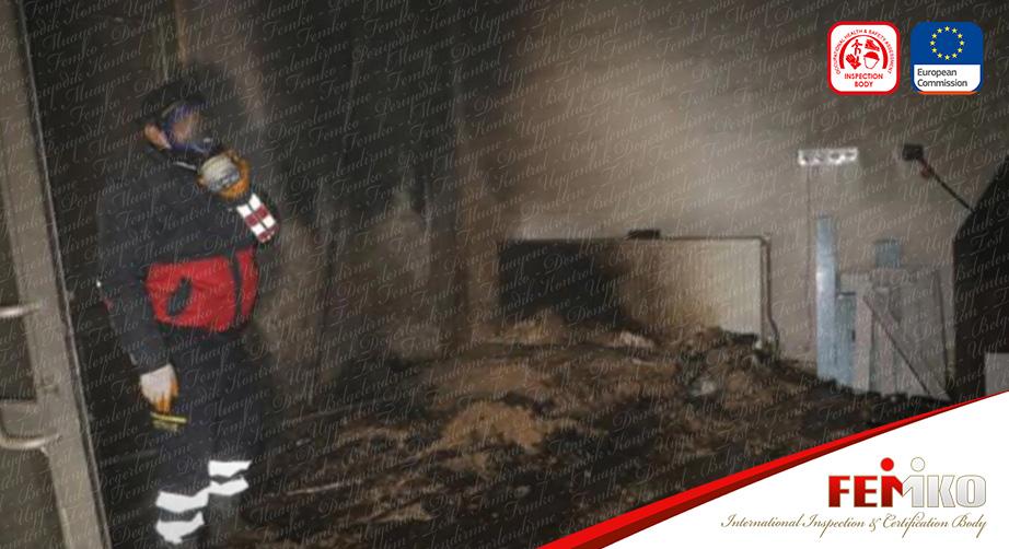 Hakkari'de Mobilya Atölyesinde Yangın