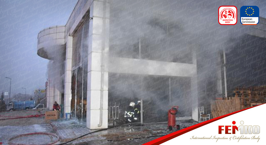 Kırıkkale'de Maske Üretim Atölyesinde Yangın