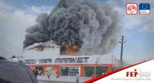 Yapı Marketinde Yangın Çıktı